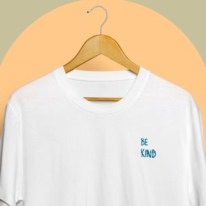 'Be Kind' Handmade Embroidered Tee